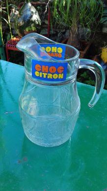 Carafe publicitaire CHOC CITRON 80's