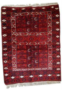 Tapis vintage Turkmène Engsi fait main, 1C431