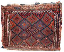 Tapis ancien Persan Kurdish fait main, 1C451