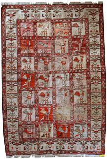 Tapis vintage Persian Sumak fait main, 1C483