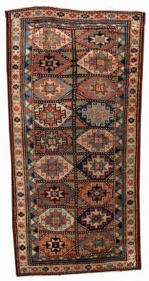 Tapis ancien Caucasien Kazak Mohan fait main, 1B493
