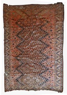 Tapis ancien Ouzbek Beshir fait main, 1B534