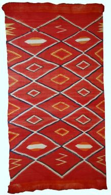 Tapis ancien Américain Navajo fait main, 1B557
