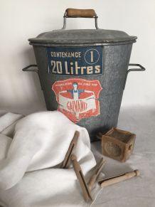 Lessiveuse ancienne Galvaniz - 20 litres