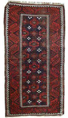 Tapis ancien Afghan Baluch fait main, 1C489