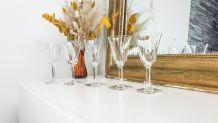 Lot de 5 Verres en cristal Saint Louis Baccarat modèle cerda
