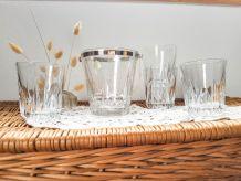 Seau à glaçon cristal Villeroy et Boch + 4 verres à whisky S