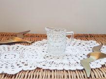Pot à lait en verre motif géométrique Petit pichet Soliflore