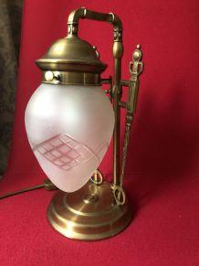 Lampe à table Style art-deco viennois. Piece rare.