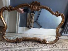 Miroir style Louis XV Bois sculpté XIX ème siècle