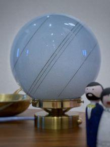 Lampe à poser globe vintage, art déco, lampe de chevet