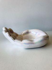 Grande main vintage en céramique nacrée