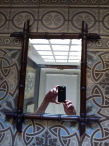 Miroir en bambou  années 30   Rétro