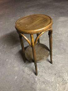 Tabouret ancien en bois style Thonet