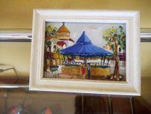 peinture miniature cota basque StJean de Luz