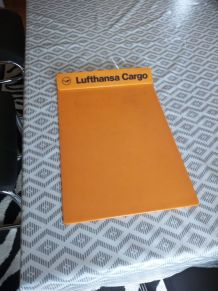 planchette plastique orange pub LUFTHANSA
