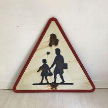 Panneau de signalisation vintage 1952