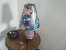 Lampe opaline violine Abat-jour conique années 70