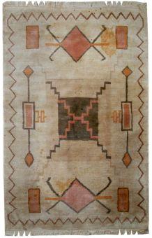 Tapis vintage Tibétain Khaden fait main, 1C504