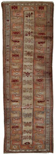 Tapis vintage Turc Oushak fait main, 1C520