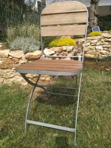 8 Chaises pliantes bois et fer