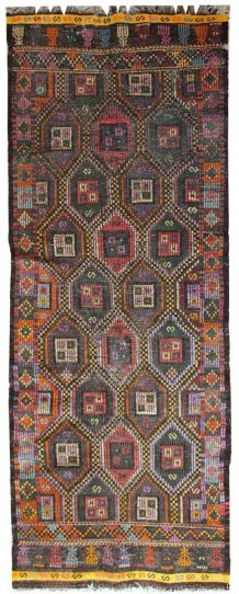 Tapis ancien Tunisien flat-weave fait main,1 C532