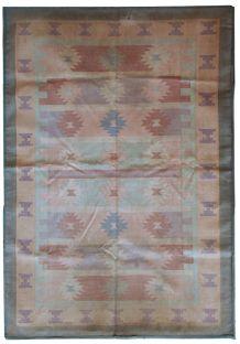 Tapis vintage Indien Dhurrie fait main, 1C534