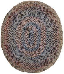Tapis ancien Américain braided fait mainб 1С554