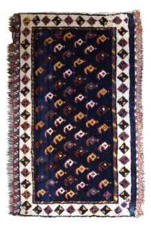 Tapis ancien Oriental fait main, 1B603