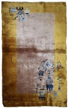 Tapis ancien Chinois Art Deco fait main, 1B637