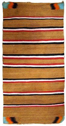 Tapis ancien Américain Navajo  fait main, 1B649