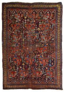 Tapis ancien Persan Khamseh fait main, 1B663