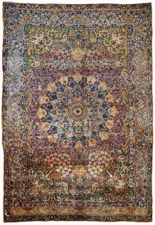 Tapis ancien Persan Yazd fait main, 1B680