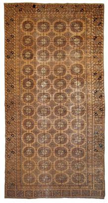 Tapis ancien Ouzbek Khotan fait main, 1B681
