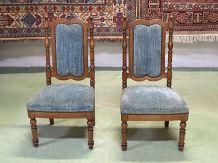 Paire de chaises basses du XIXème en merisier