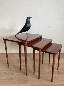 Set de 3 tables basses gigognes vintage années 60
