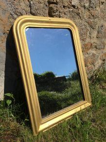 Miroir ancien Louis Philippe doré