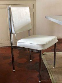 Jolie chaise américaine  vintage années 60 en skai