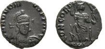 Follis , Honorius , Cyzique Monnaie Antique Impérial Romaine