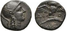 Pergame ,  Mysie , Bronze Monnaie Antique Demi-unité TTB+