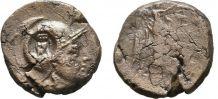 Monnaie antique ancien monde grec bronze contremarque Chouet