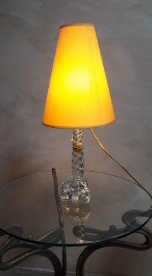 lampe cristal verre soufflé et étirer 48x18  verrerie paris