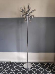 lampadaire spoutnik 18 feux en métal chromé