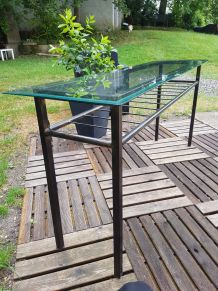 Table console en fer