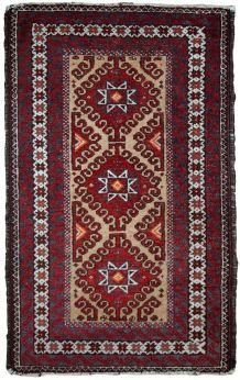 Tapis vintage Afghan Ersari fait main, 1C592