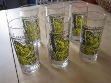 6 verres   a  sirops marque Germain