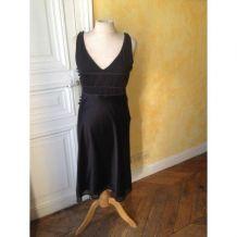 Petite robe noire en soie Galeries Lafayette
