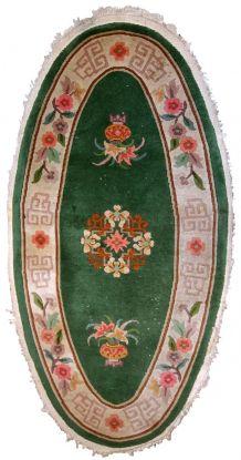 Tapis ancien Chinois Art Deco fait main, 1C619