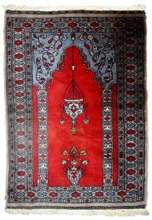 Tapis vintage Ouzbek Bukhara fait main, 1C626