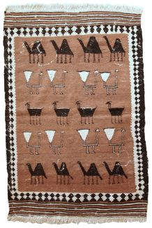 Tapis ancien Persan Ardabil fait main, 1C667